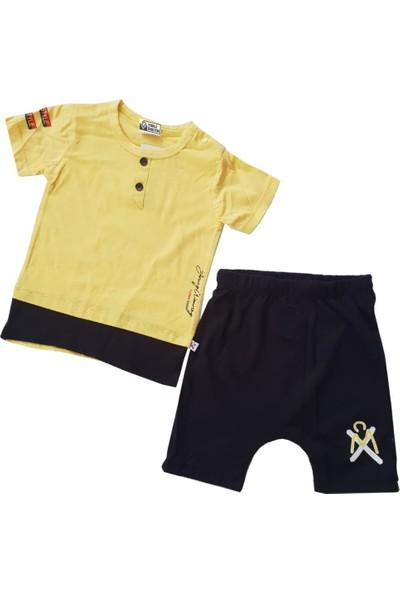 Comix Düğmeli Erkek Bebek Şortlu Takım 91835