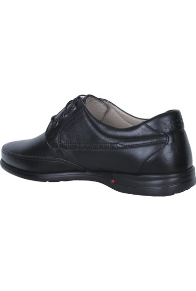 Balayk 1094 Siyah Poli Hakiki Deri Günlük Klasik Erkek Ayakkabı