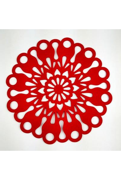 Misingpiece 2'li Keçe Çiçek Motifli Amerikan Servis