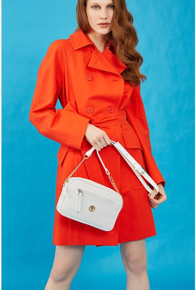 Smart Bags U.s. Polo Assn. US8708 Beyaz Kadın Çapraz Çanta