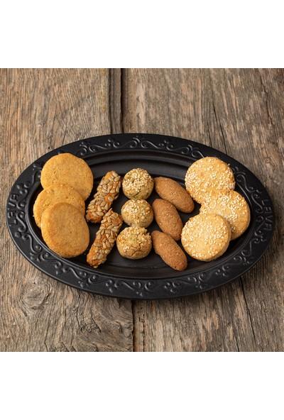 Kukumav Şekersiz Cevizli Üzümlü Siyez Kurabiye 2'li Paket