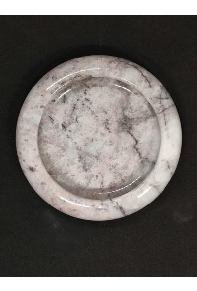 Pergamon 3 cm Kalınlık Gerçek Mermer Küllük Kül Tablası Retro Tasarım