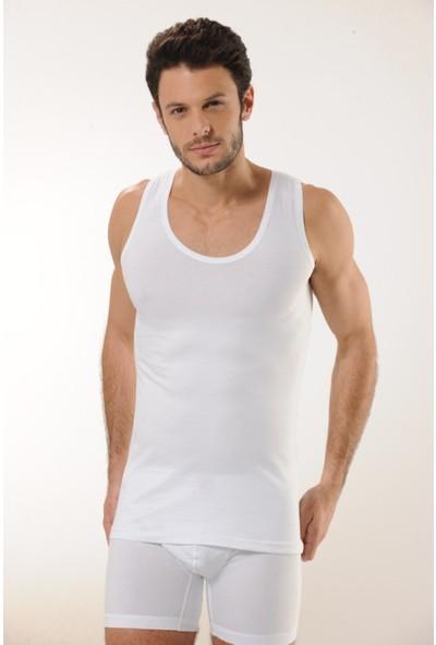 Hmd 716 Pamuklu Askılı Erkek Atlet - Beyaz