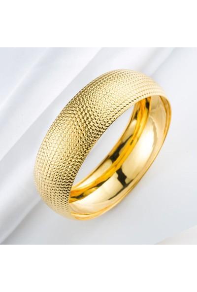 Bilezikci Noktalı 14 Ayar Mega Altın Bilezik 16 gr