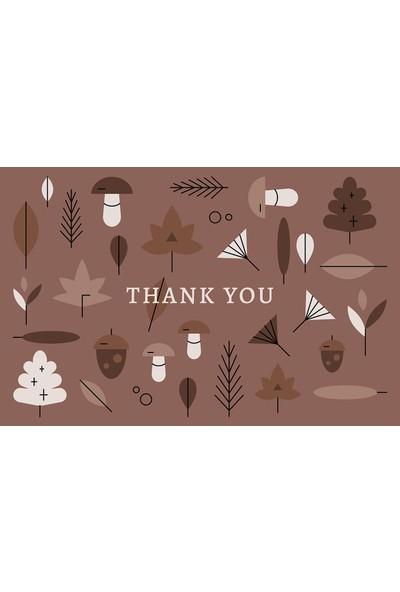 Tellgraf Teşekkür Kartı 5,5 x 8,5 cm