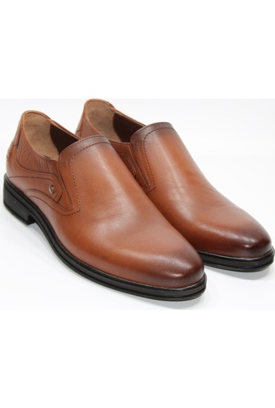 Berenni deri Poliüretan Düz Yüzü Taban Maskaratlı Zımbalı Model Klasik Erkek Ayakkabı