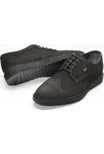 Berenni deri Poliüretan Düz Taban Bağcıksız Klasik Erkek Ayakkabı
