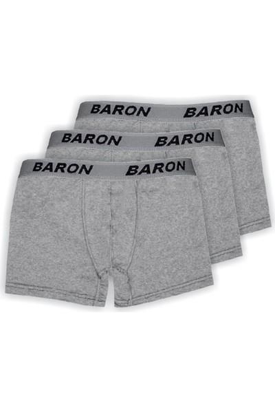 Baron 3 Lü Paket Erkek Penye Likralı Pamuklu Boxer
