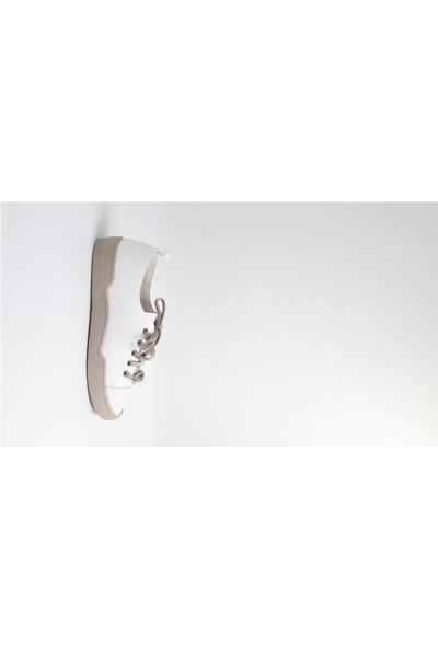 Park Moda Modensi Beyaz Taşlı Kadın Günlük Ayakkabı