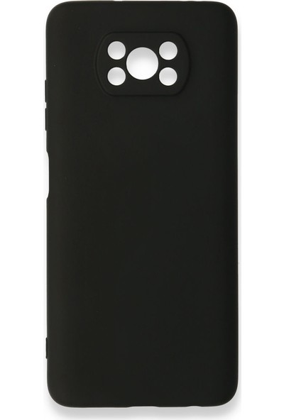 Happycase Xiaomi Poco X3 Nfc Lansman Silikon Kılıf Açık Siyah