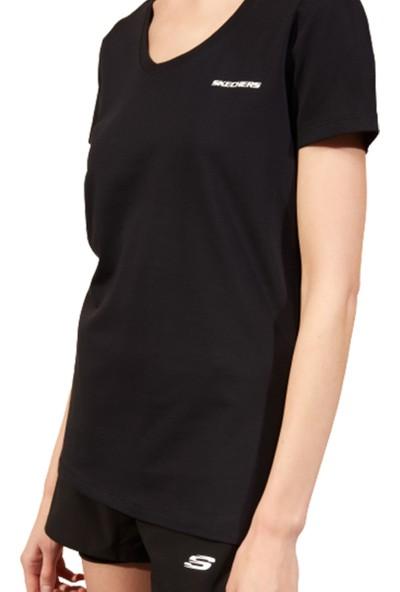 Skechers Graphic Tee W V Neck T-Shirt Kadın Tişört S202215-001