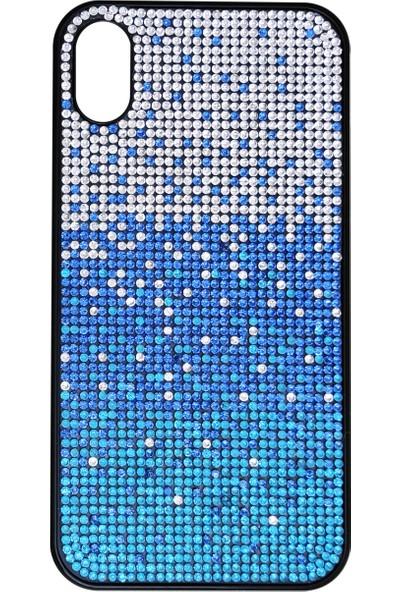 Mopal Apple iPhone Xr Jull Taşlı Silikon Kılıf Mavi