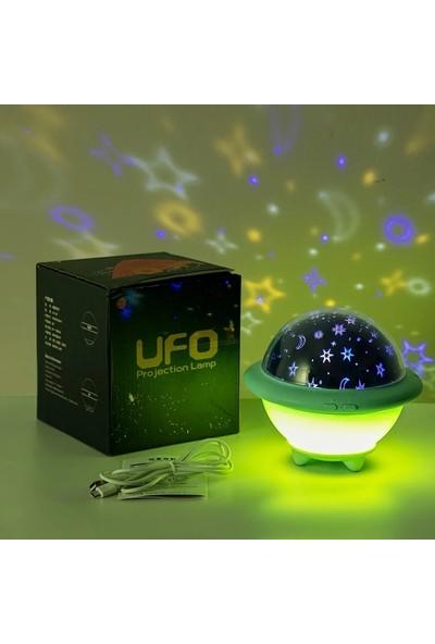 İbeking Ufo Projektör Lamba Yeşil