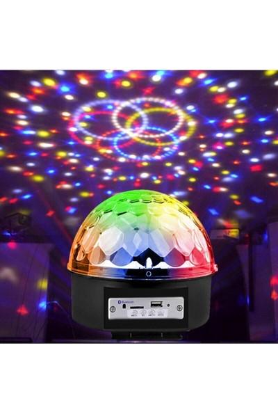 Dream Plus Küre Disko Topu Müzik Çalar Renkli Lazer Işıklı Bluetooth Sese Duyarlı Işıklar Disko Parti Işığı