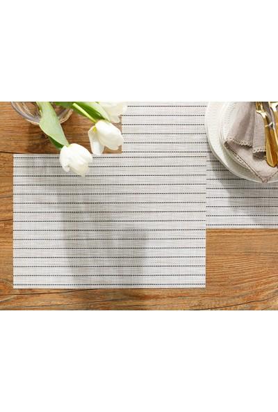 English Home 4'lü Vanity Krem Rengi 45 x 30 cm %75 Pvc %25 Polyester Amerikan Servis