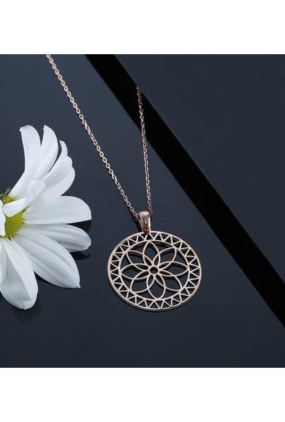 Trendy Takı 925 Ayar Gümüş Yaşam Çiçeği Kolye