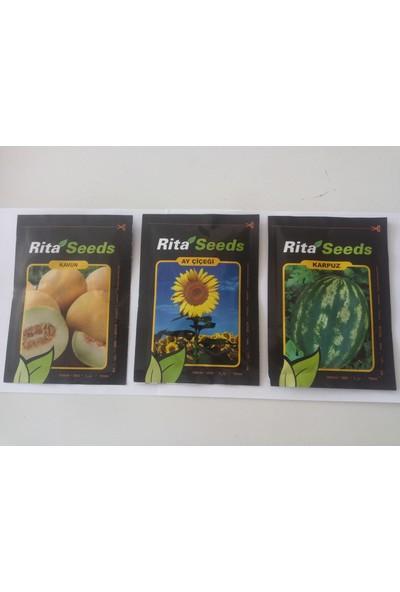 DÖRTBUDAK Rita 3 Lü Set Karpuz Kavun Ayçiçek Tohumları