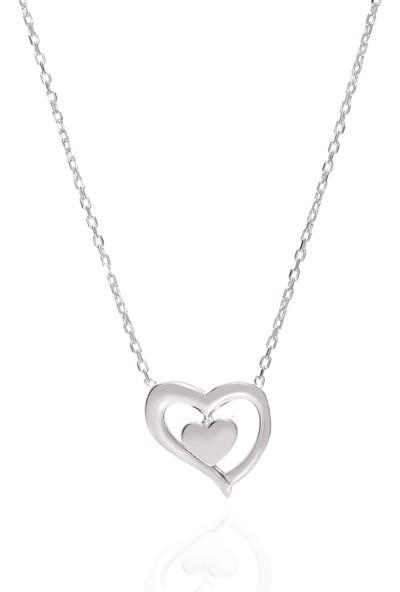 Trendy Takı 925 Ayar Gümüş Kalbimdesin Kolye