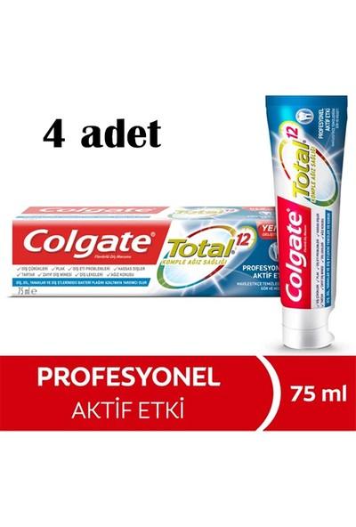 Colgate Total Profosyonel Aktif Etki Diş Macunu 75 ml Renk Değişim Teknolojisi ile * 2 Adet