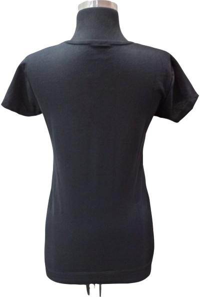 Zy Plus Siyah Friday Baskılı Kısa Kollu T-Shirt