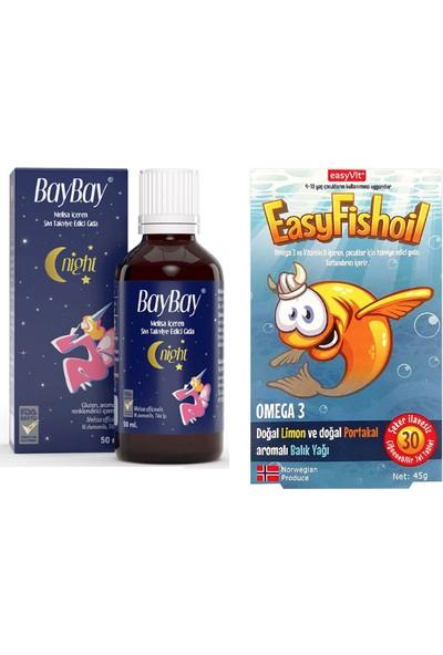 Melisa Içeren Takviye Edici Gıda 50 ml + Easy Fishoil Omega 3 ve D Vitamini 30 Çiğnenebilir Tablet