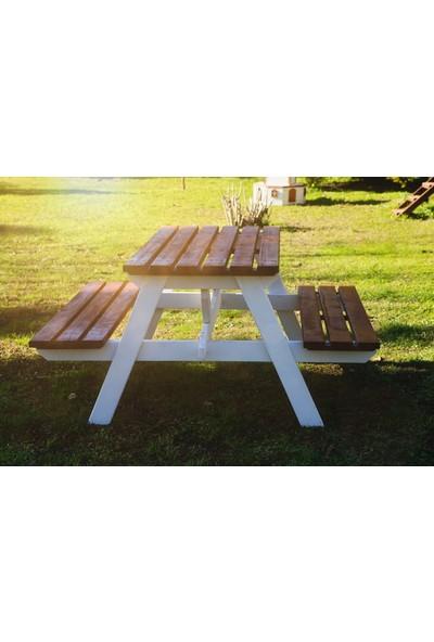 Mandu 6 Kişilik Ahşap Piknik Masası