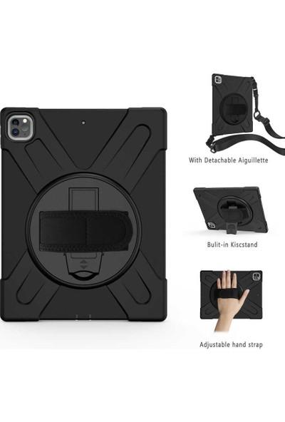 Happyshop Apple iPad Pro 11 2021 Kılıf Ultra Korumalı Askılı Standlı Kalemlikli Defender Kılıf