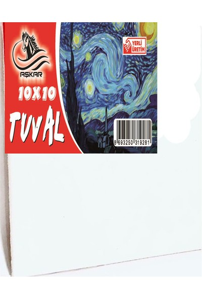 Aşkar Tuval 5 Adet 10 x 10 cm