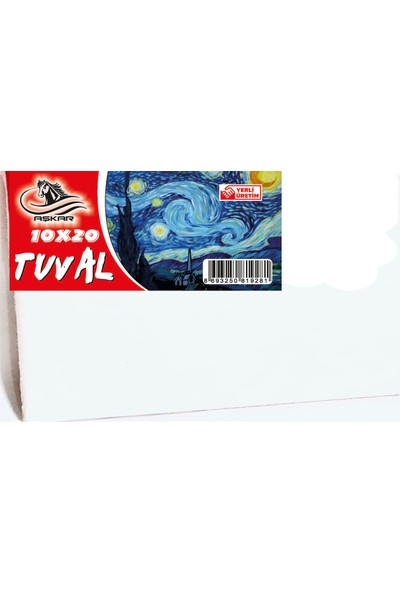 Aşkar Tuval 5 Adet 10 x 20 cm