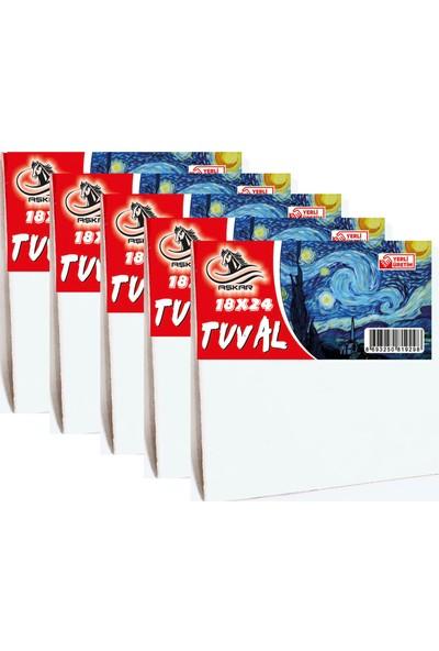 Aşkar 18 x 24 cm Tuval 5 Adet