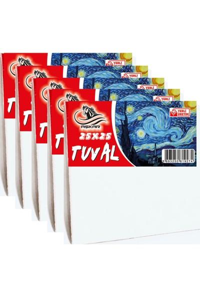 Aşkar 25 x 25 cm Tuval 5 Adet