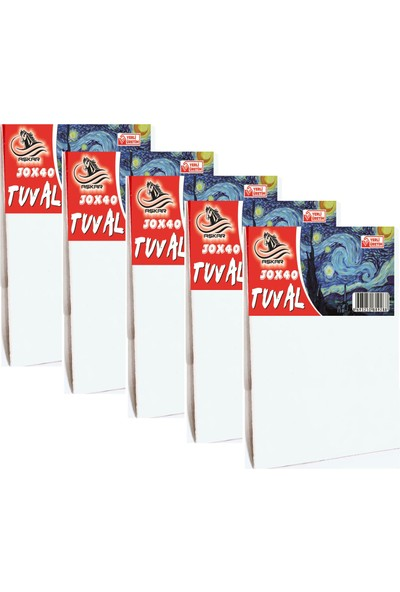 Aşkar Tuval 5 Adet 30 x 40 cm