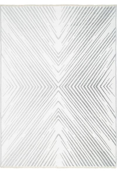 Metraj Halı Cosmos CS1802 Gümüş Beyaz Metraj Modern Kilim