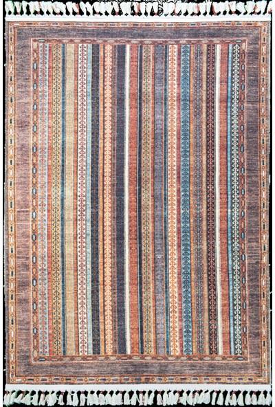 Tuğra Halı Çam Halı Şal 10630 Multi Tuğra Halı Etnik Desen Modern Kilim