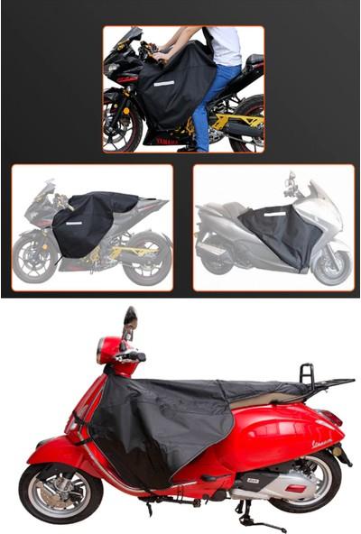 Carneil Scooter Motosiklet Örtü Diz Göğüs Koruyucu Reflektörlü Su Rüzgar Geçirmez