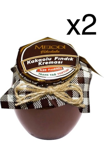 Melodi Çikolata Melodi Kakaolu Fındık Kreması 400 gr 2'li Set
