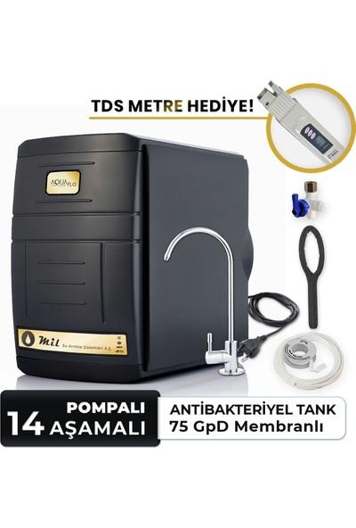 Aquaflo Black 14 Aşamalı Pompalı Su Arıtma Cihazı (SKP14-P-S)