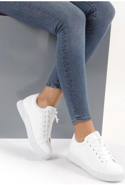 Dgn 1036 Kadın Bağcıklı Sneakers Ayakkabı
