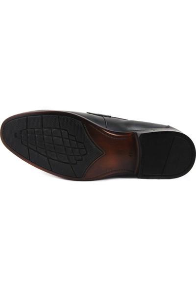 Forelli 44203 Erkek Siyah Deri Klasik Ayakkabı