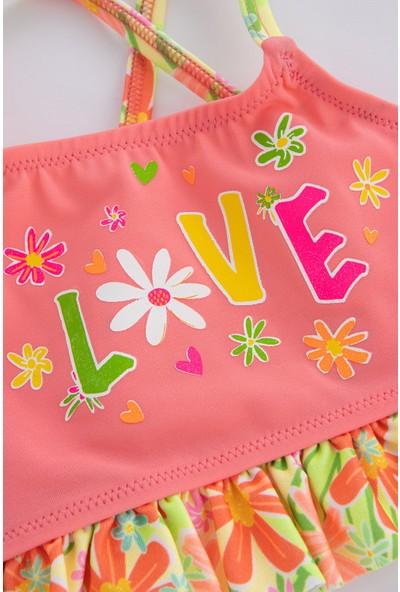 Penti Çok Renkli Kız Çocuk Pretty Daisy Halter Bikini Takımı