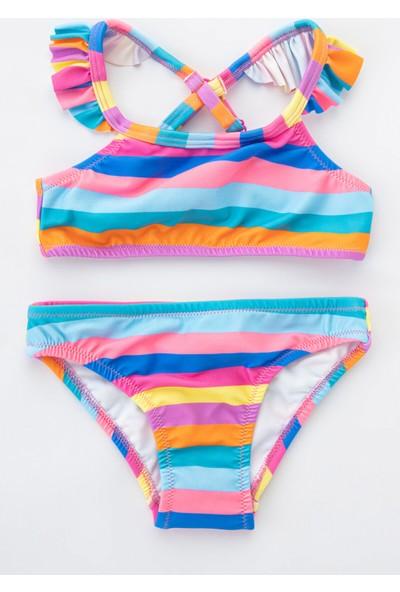 Penti Çok Renkli Kız Çocuk Color Summer Halter Bikini Takımı