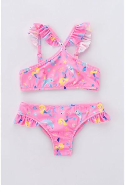 Penti Çok Renkli Kız Çocuk Sweet Mermaid Halter Bikini Takımı