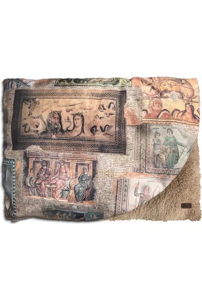 """Pething Puffybed """"mozaik"""" Peluş Battaniyeli Köpek ve Kedi Yatağı"""