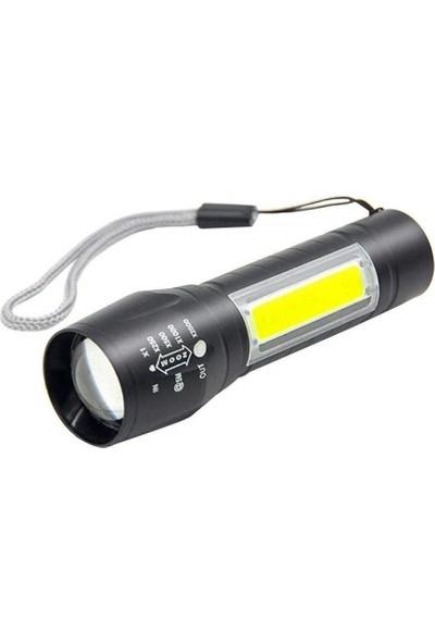 Power Style Taşınabilir LED USB Şarj Edilebilir El Feneri Gece Lambası
