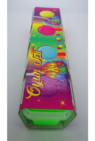 Yum Toys 4lü Paket 4 Renk 4x4 Slime. 450GR Canlı Parklak Renk Hazır Slime