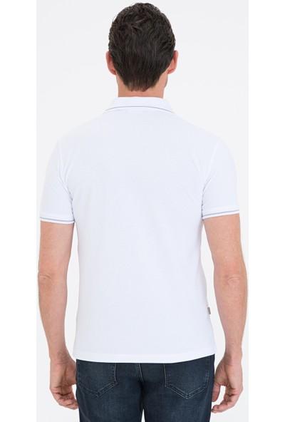 Pierre Cardin Beyaz Slim Fit Basic Polo Yaka T-Shirt 50239844-VR013