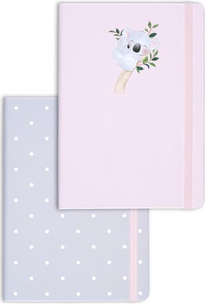 Matt Notebook A5 2'li Defter Seti 15 x 21 cm Noktalı Koala
