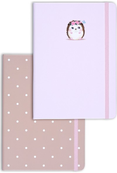 Matt Notebook A5 2'li Defter Seti 15 x 21 cm Noktalı Kirpi