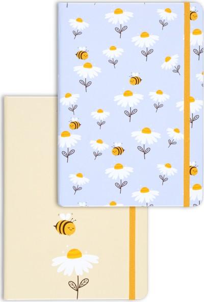 Matt Notebook A5 2'li Defter Seti 15 x 21 cm Noktalı Arı