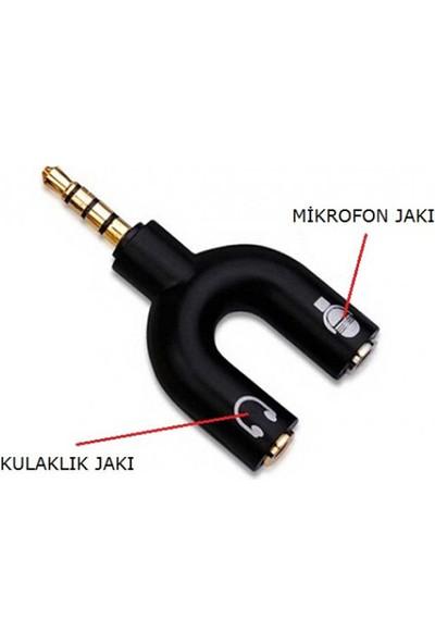 Wozlo Kulaklık Mikrofon Birleştirici Adaptör 3.5mm Ayırıcı Aparat
